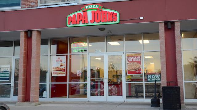 Papa Johns pizza restuarant