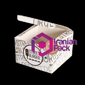 جعبه برگر مدل صندوقی