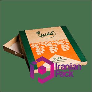 جعبه پیتزا مدل دو تکه ای