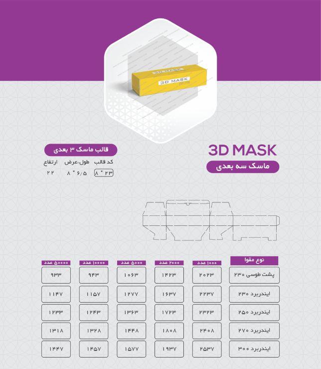 جعبه ماسک 3 بعدی