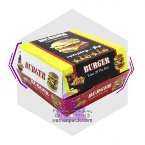 جعبه برگر مک دونالدی یا صدفی