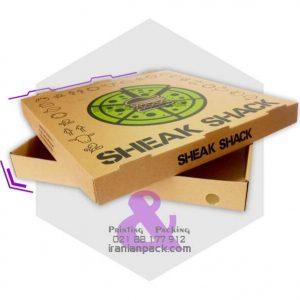 جعبه پیتزا دو تکه