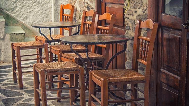 اندازه میز و صندلی رستوران