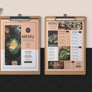 چیدمان در طراحی منو رستوران
