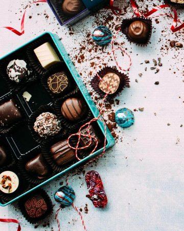 ابعاد جعبه شکلات
