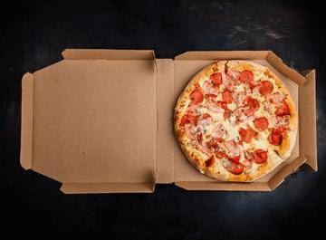 جعبه پیتزا تک نفره خام