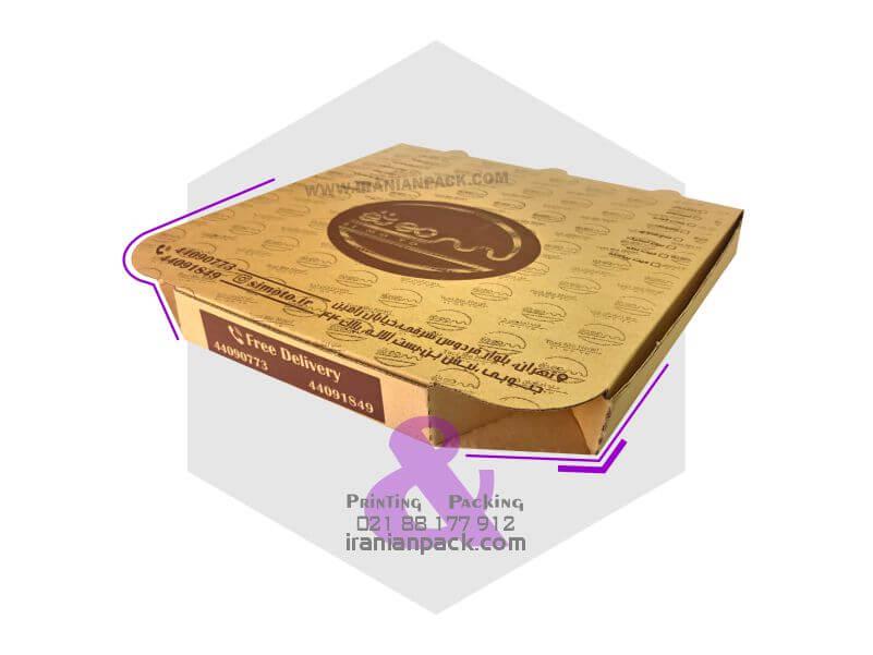 جعبه پیتزا لوزی